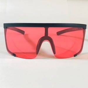 Other - Black/Red Large Shield Sunglasses